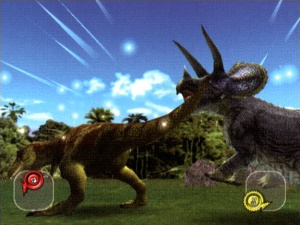 dinosaur king dinosaurs fighting game using trading cards vended by the machine the battle follows the rock paper scissors rules