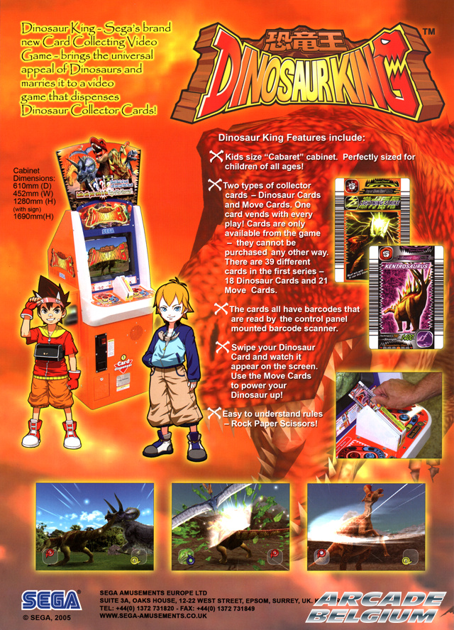 Dinosaur King brochure side B