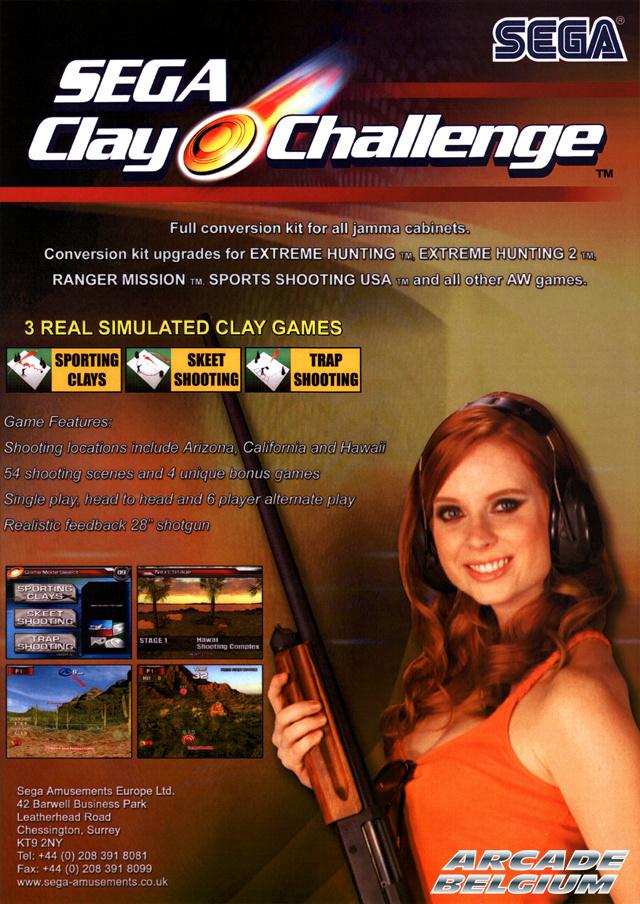 Sega Clay Challenge Flyscc01