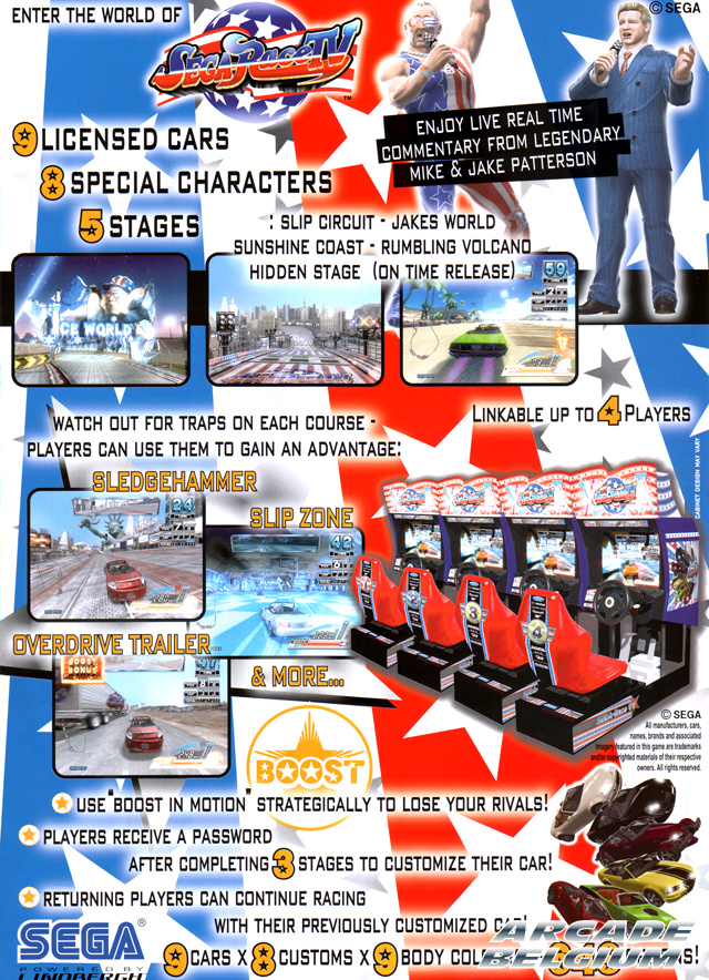Sega Race TV brochure side B