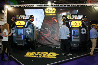 borne arcade star wars battle pod
