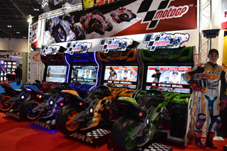 borne arcade moto gp