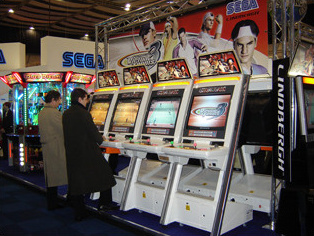 In 4/3 ratio on Naomi cabinets at ATEI 2006.