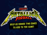 Vote for the songs to be added to the Metallica pinball